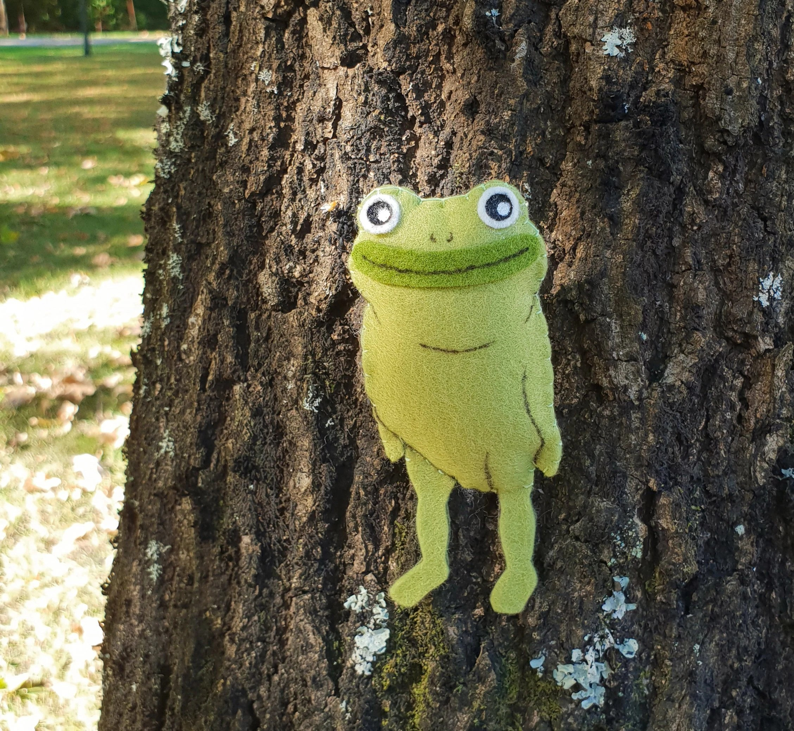 mini plush frog forest