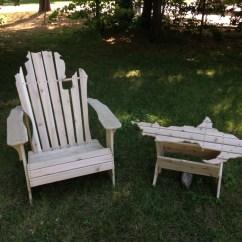 Michigan Adirondack Chair Elegant Bedroom Etsy