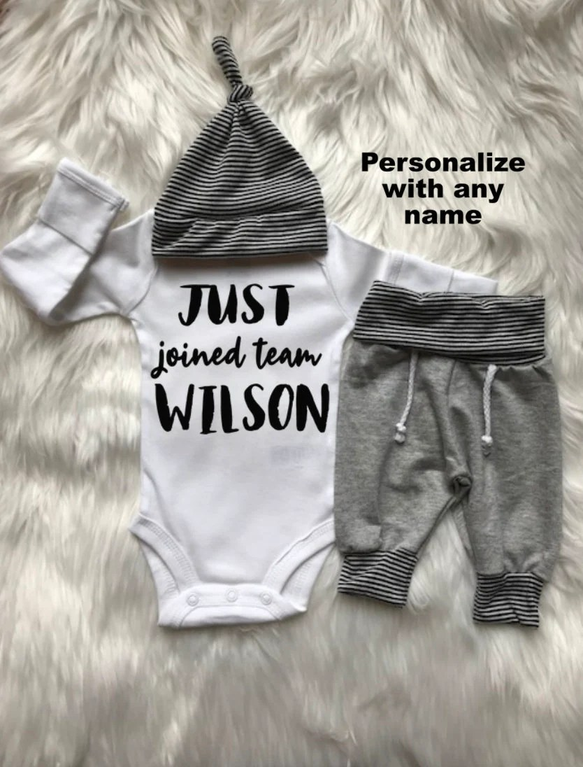 Baby Boy Take Home Outfit : outfit, Coming, Outfit/baby, Boy/personalized/jogger/baby