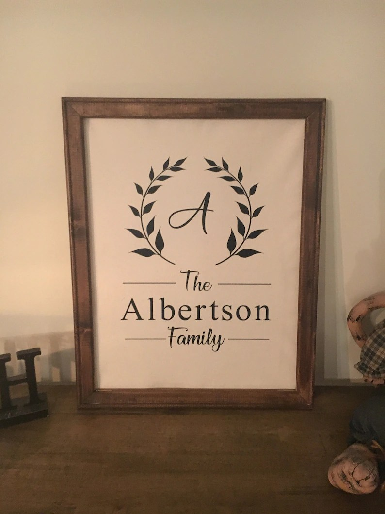 reverse canvas family name