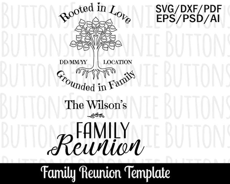 Family Reunion Program Template Free