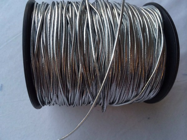 Elastic Cord Silver 3-4 Mm Approx Size