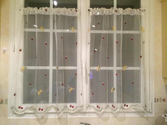 fruit kitchen curtains tile floor ideas small etsy image 0