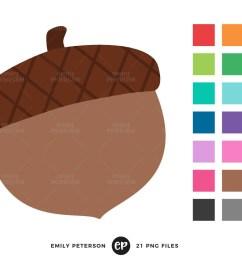 acorn clip art fall clipart autumn clip art commercial use instant download [ 1500 x 998 Pixel ]