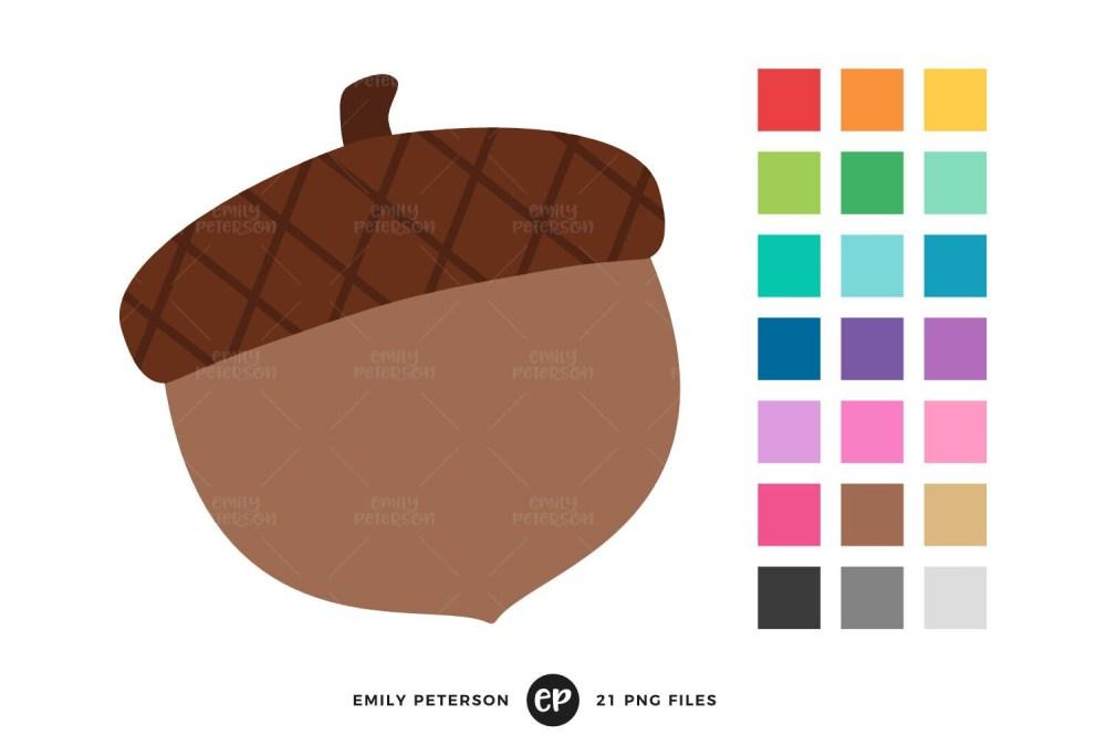 medium resolution of acorn clip art fall clipart autumn clip art commercial use instant download