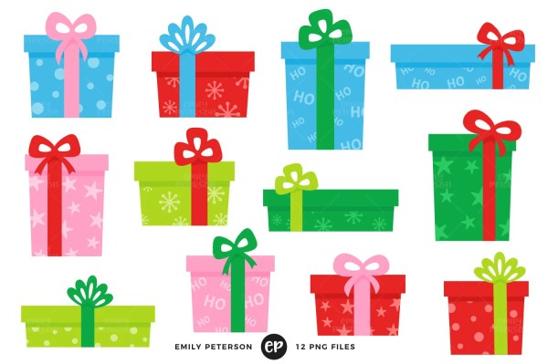christmas clip art presents