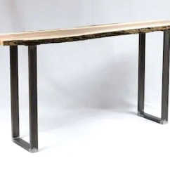 Wooden Sofa Table Legs Outdoor Set Covers Console Etsy H 28 Inch W5033b2 U Leg 1 Pair