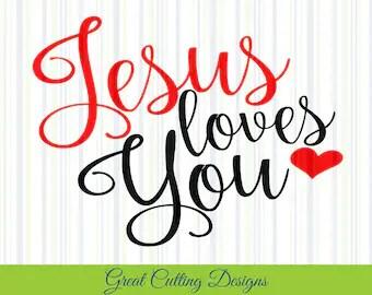 Download Jesus loves me svg file for Cricut Cutting file Svg ...