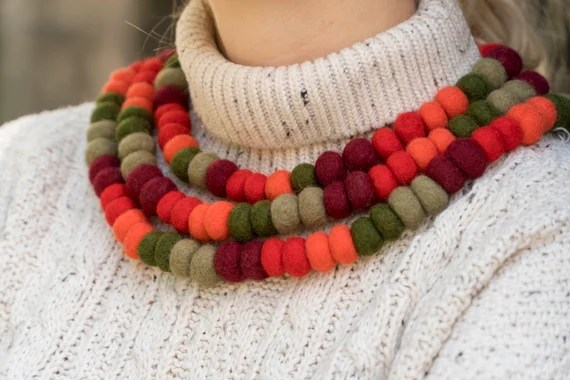 Image result for woolen jewellery