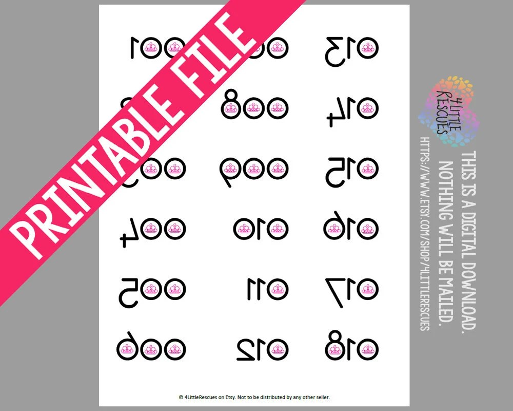 picture relating to Paparazzi Printable Numbers named Printable Backwards Quantities Paparazzi Jewellery - 12 months of