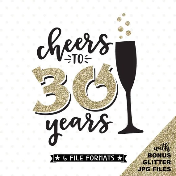 Download 30th Birthday SVG Cheers to 30 Years SVG file 30th | Etsy