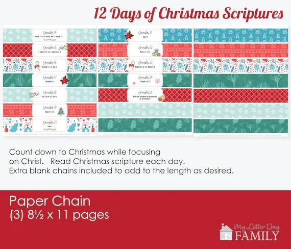 printable christmas paper chain