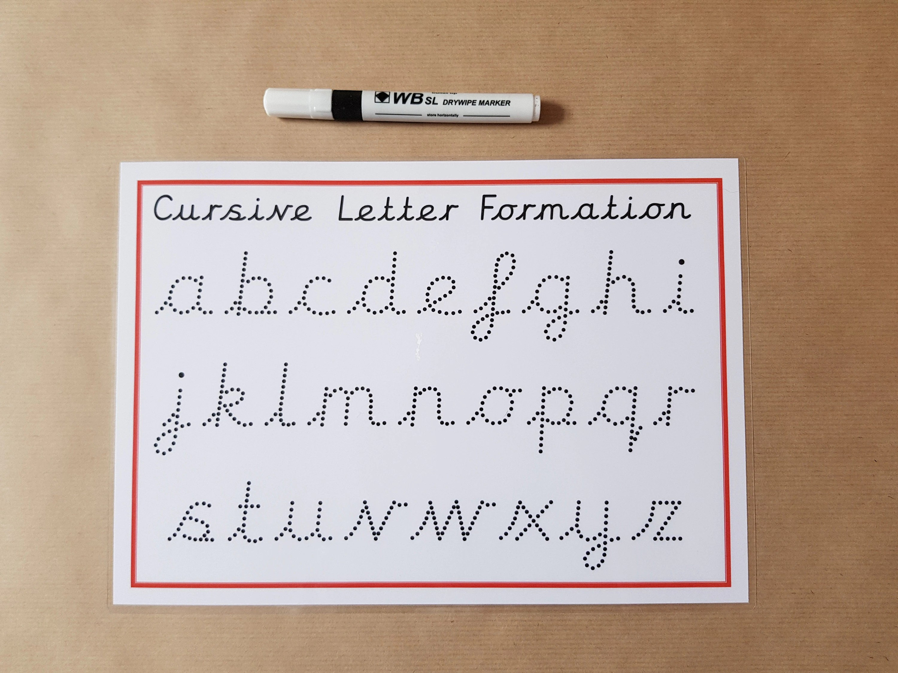 Tracing Cursive Letters Writing Letters Dotted Font