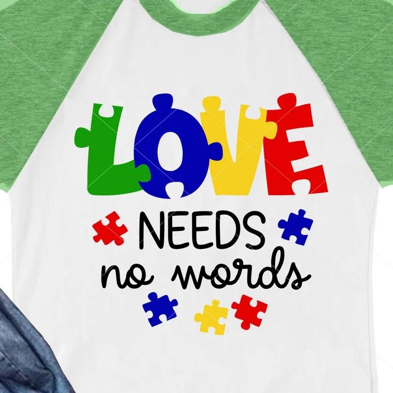 Download Autism awareness svg Love needs no words Puzzle piece ...