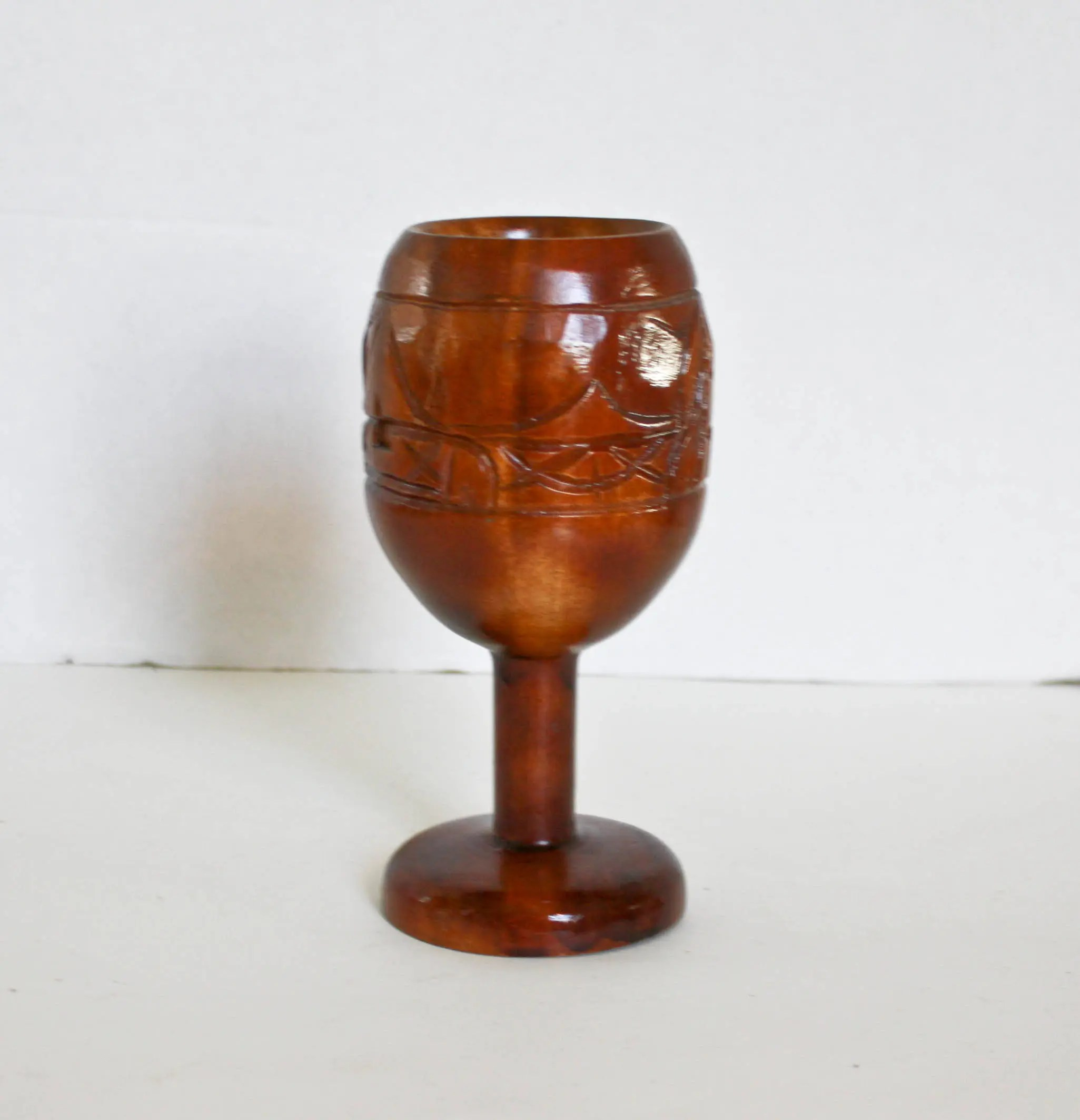 Wooden Goblet With Rings
