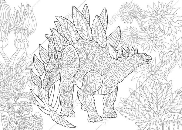 stegosaurus coloring page # 72