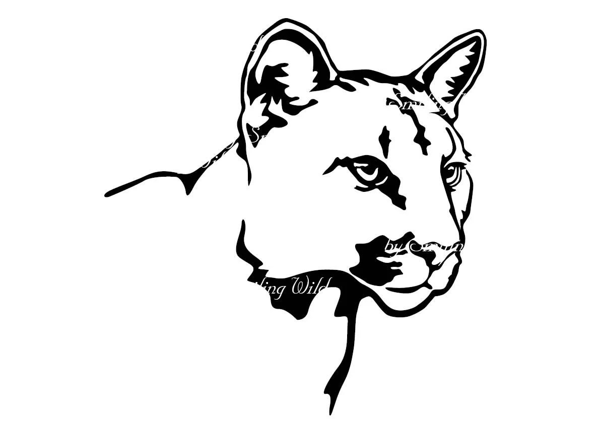 Mountain lion svg cougar art vector graphic puma clipart