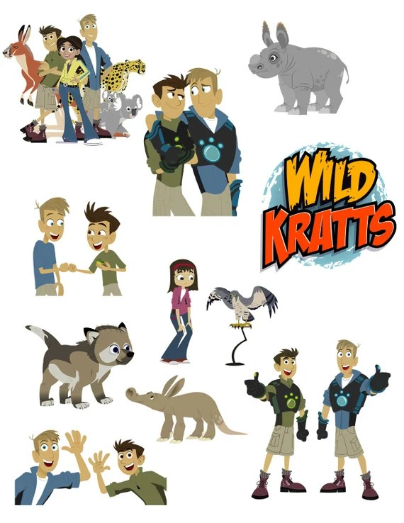 Wild Kratts Printouts Instant Download Clipart Imags Cutouts Etsy