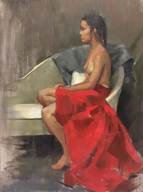 Figurative Art : figurative, Woman, Color, Figurative, Painting