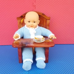 American Girl Doll High Chair Folding Patio For Dolls Furniture Etsy Image 0