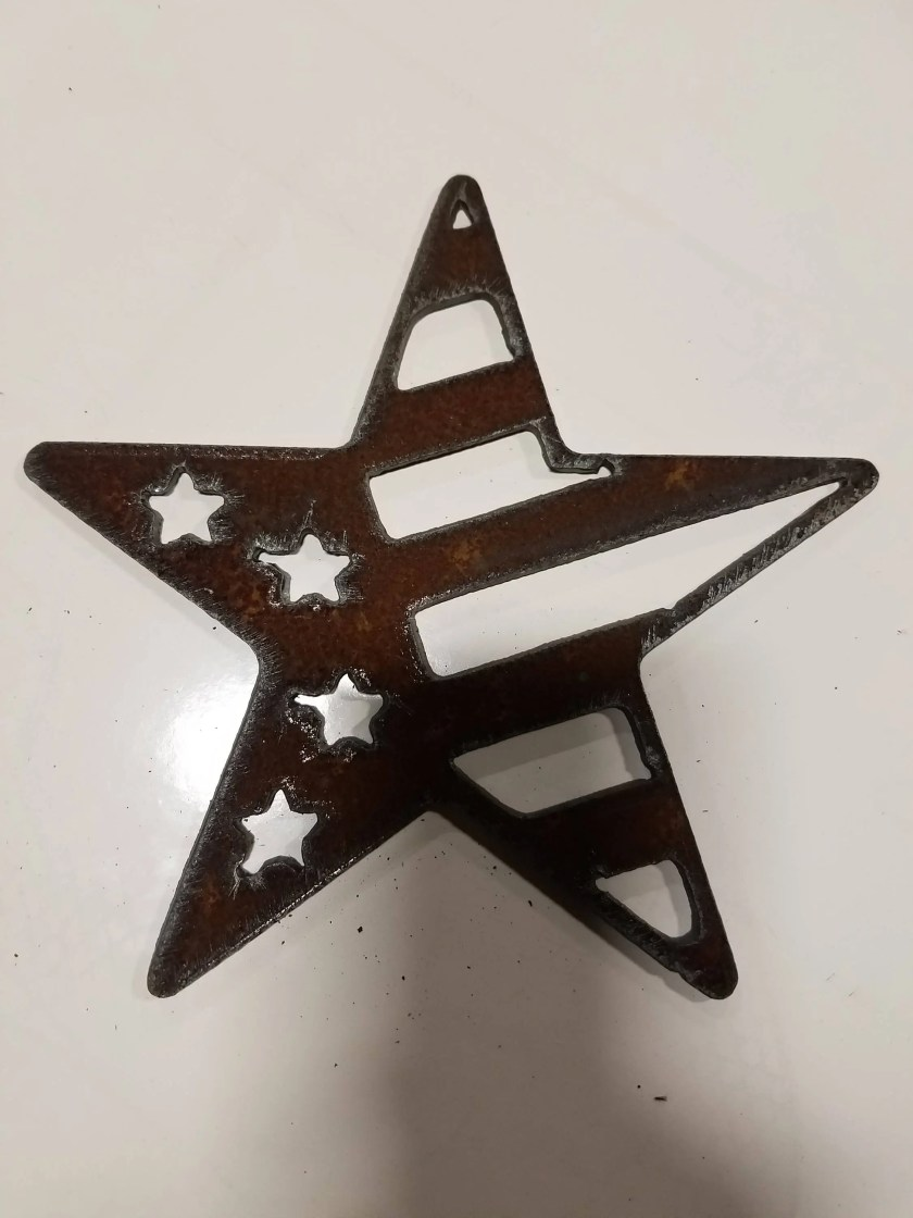 Patriotic Star Rusty USA ...