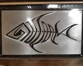 Fish Fossil Aluminum/ Ste...