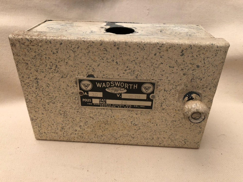 medium resolution of vintage wadsworth fuse box wiring library vintage 2 pole wadsworth electrical panel for glass fuse plugs