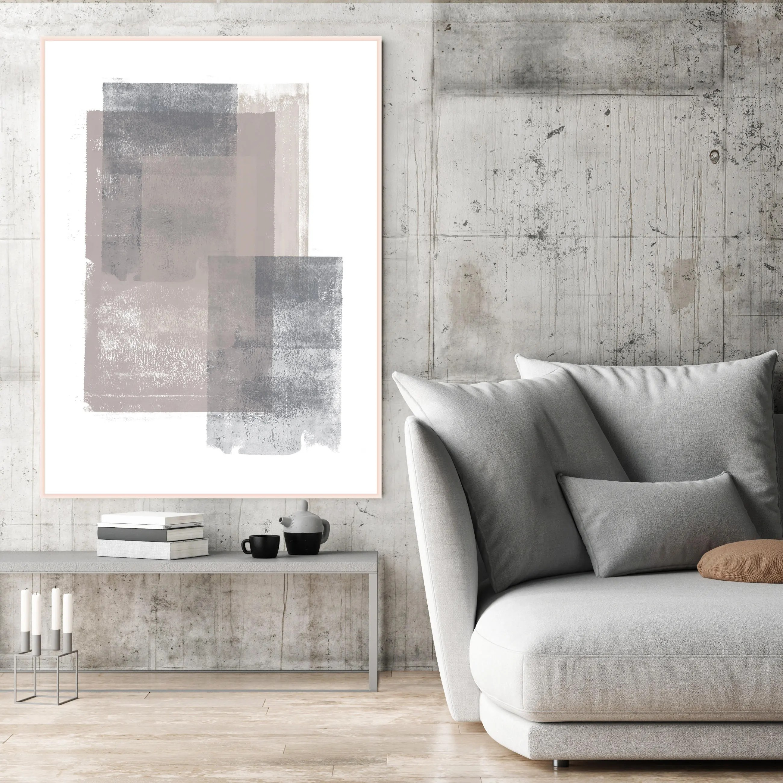large artwork for living room tv wall design ideas grey and brown abstract art minimalist painting print extra modern printable neutral