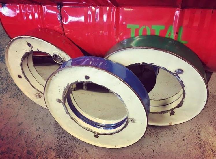 Reclaimed Large Round Metal Industrial Mirror Variety Of