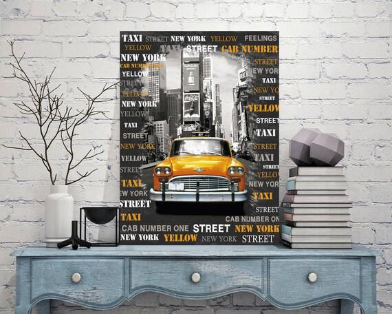 Taxi New York Signs Taxi New York Sign Taxi New York Decor