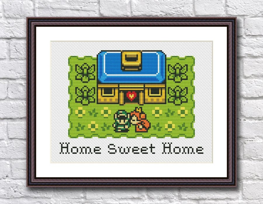Ava duvernay's family social experiment series gets nbc premiere date. Legend Of Zelda Home Sweet Home Funny Modern Cross Stitch Etsy