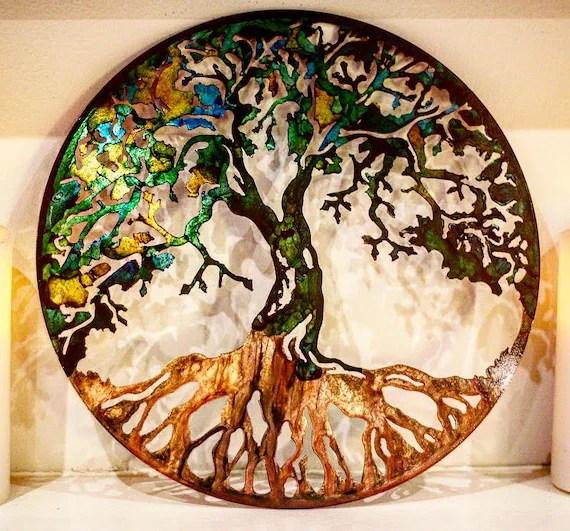 metal tree tree art metal wall art metal tree art family etsy