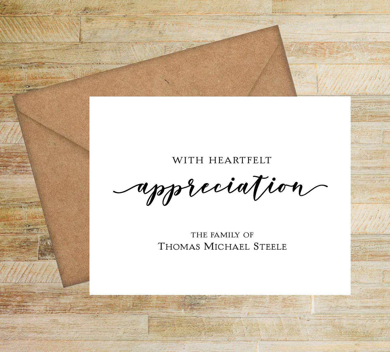 with heartfelt appreciation sympathy