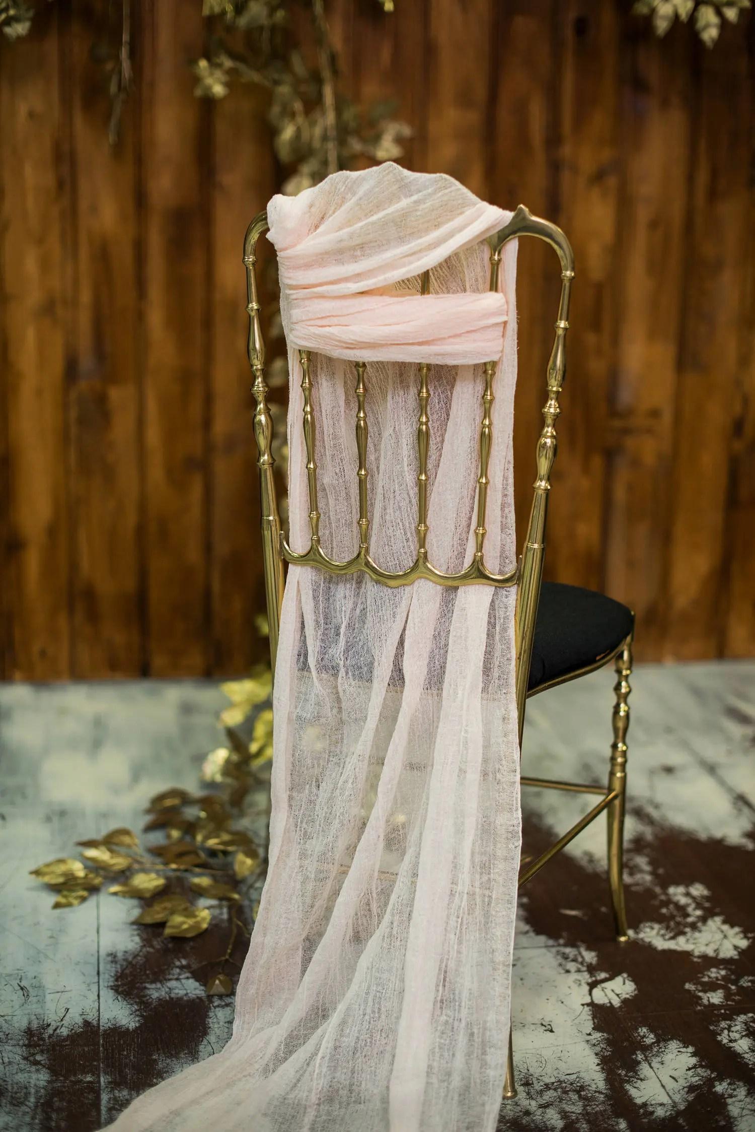 cotton wedding chair covers to buy cedar adirondack sashes gauze sash cover decorations etsy image 0