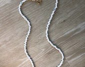 White Evil Eye Beaded Mask Chain