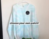 Tie Dye Sweatshirt with optional embroidered patch (L)