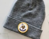 Minnesota Vikings Vintage Patch Beanie (Gray)