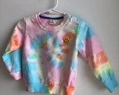 Tie-Dye Baby Sweatshirt with Patch