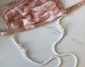 Rose Quartz style Beaded Mask Chain