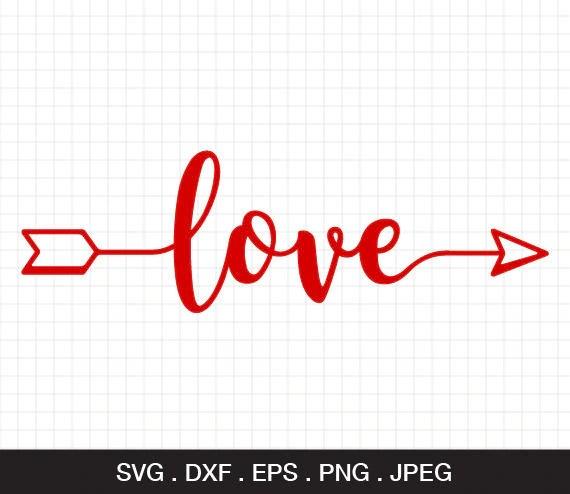 Download Love arrow SVG Love Valentine SVG Valentines Day SVG Svg ...
