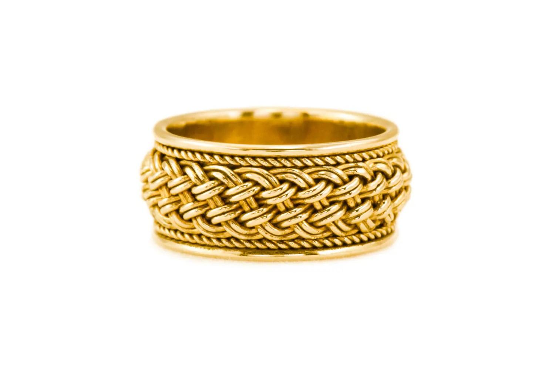 Geflochtene Ehering Frau Braut Ring gewebte Gold Gold  Etsy