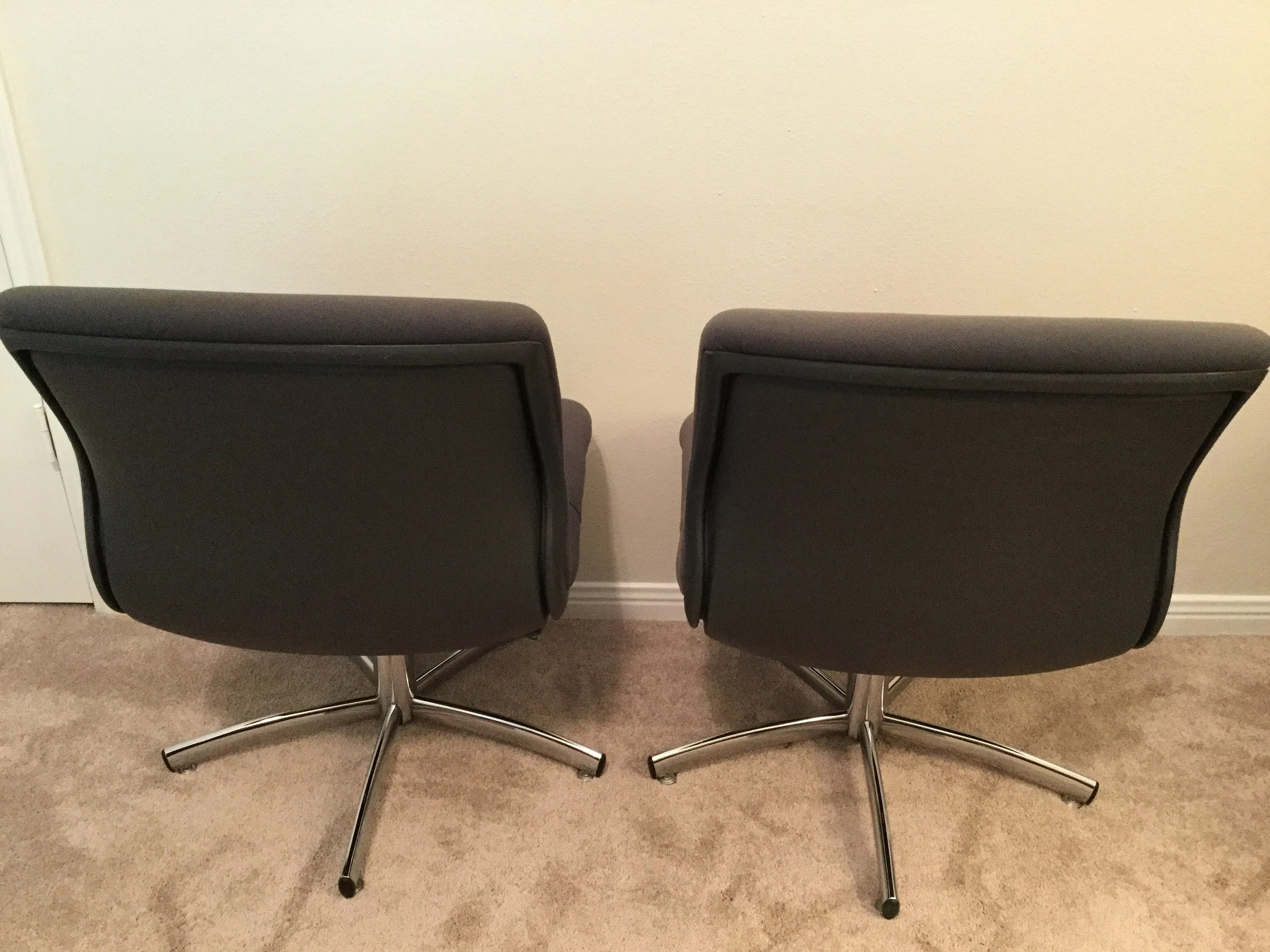 vintage steelcase chair barber chairs craigslist mcm pollock style authentic series 454 etsy image 0