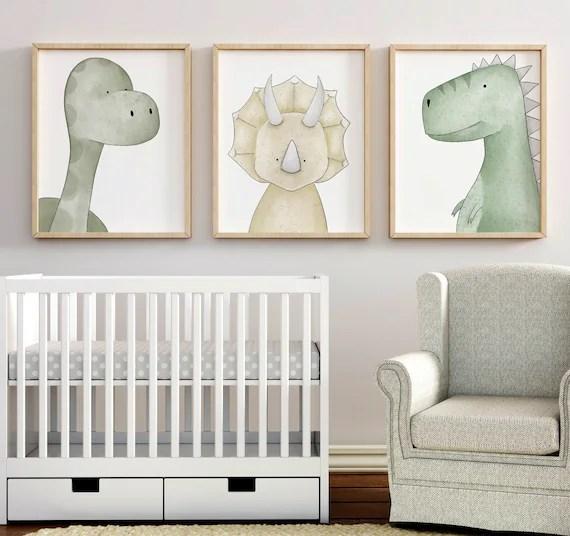dinosaur print set dinosaur