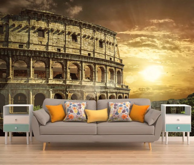 Wall Decor Peel And Stick Colosseum Wall Mural Wall Mural Rome Wallpaper Italy Wall Decal Rome Reusable Wallpaper Wall Decor Italy