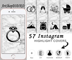 Instagram Story Highlights Icons Set Of 57 Instagram Icons Black And Getting Random Followers On Instagram