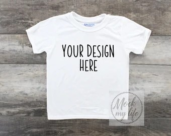 Download Gildan 42000B White Mockup, Plain White Shirt Mockup ...