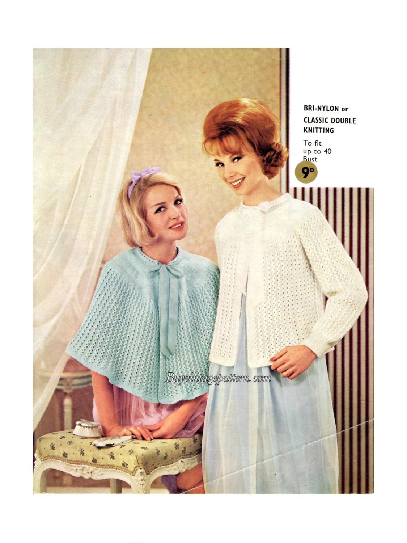 Bed Jackets Patterns : jackets, patterns, Vintage, Jacket, Knitting, Patterns