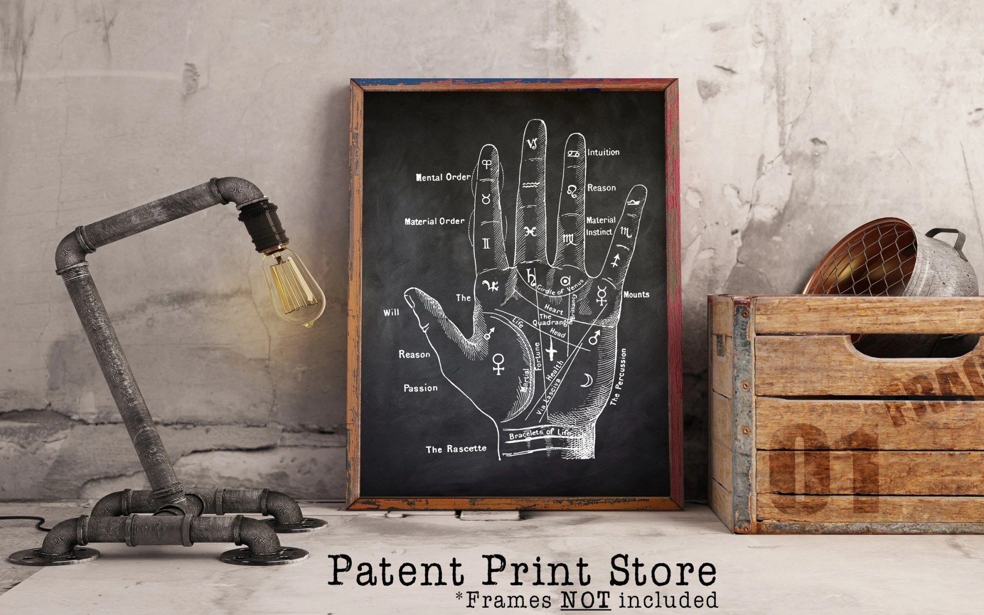 hight resolution of palm reading art print palmistry hand diagram wall art poster antique chiromancy drawing palmistry art print fortune telling art