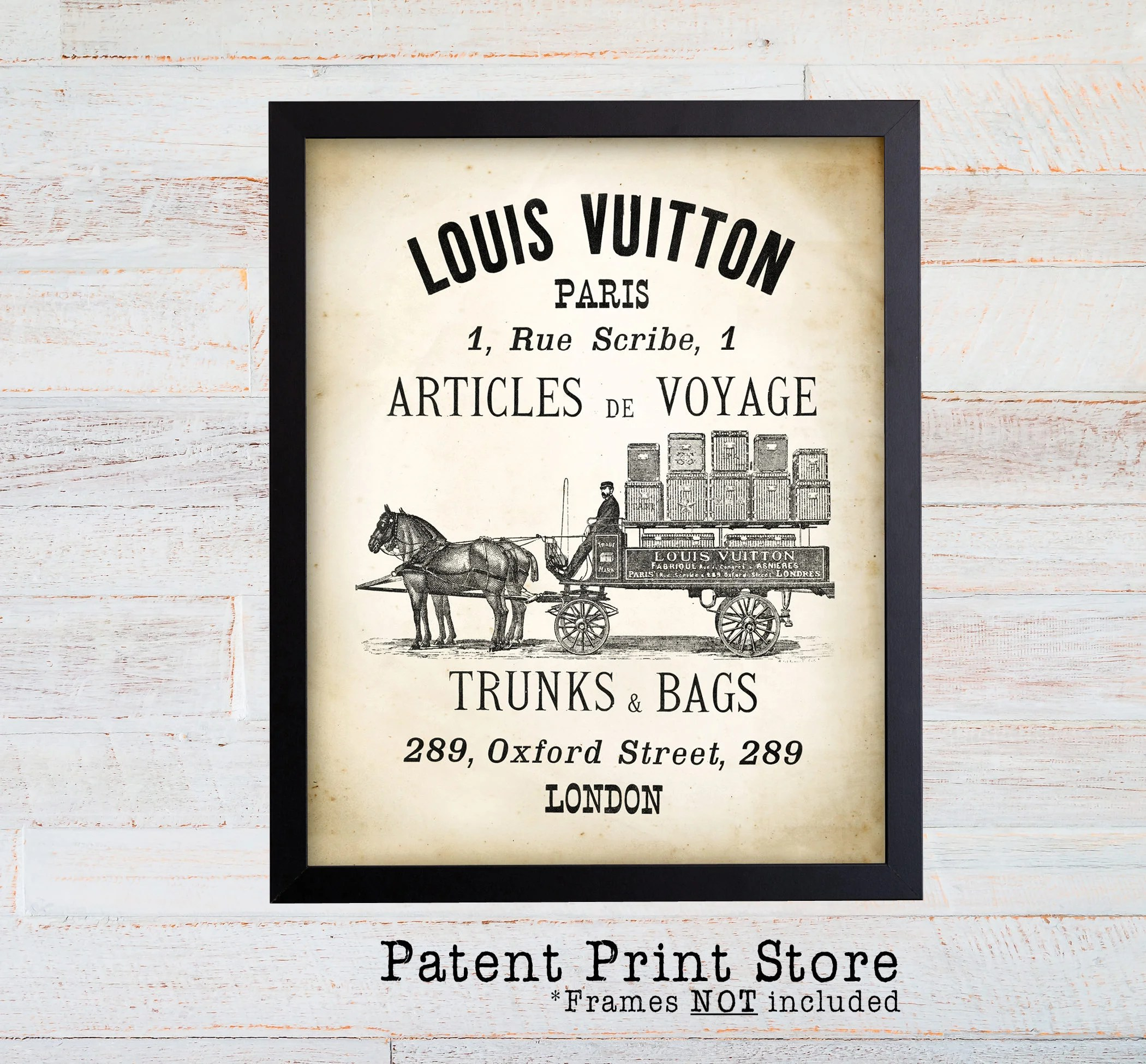 louis vuitton vintage ad wall art print antique travel poster french fashion wall decor fashion art fashion print fashion decor 119