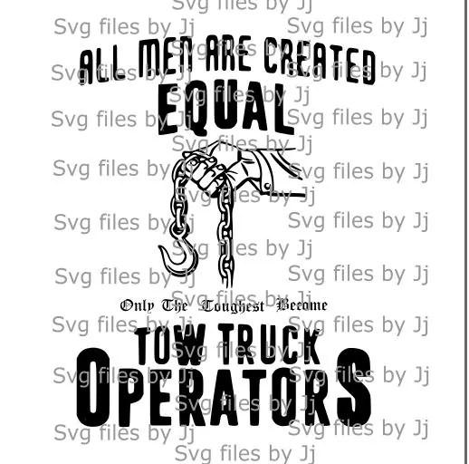 Tow truck operators svg